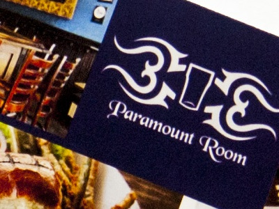 Paramount Room flyers paramount room