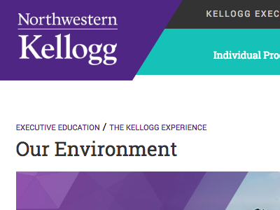 Kellogg Executive Edcation Website website northwestern kellogg