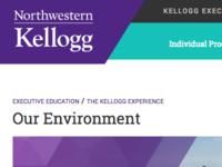 Kellogg Executive Edcation Website