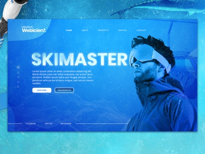 webicient - Skimaster splash shite blue winter snow skee animation wordpress webicient webdesign illustrator illustration branding adobe ui website web ux photoshop design