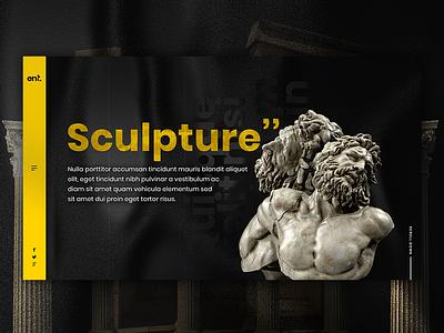 Webicient - Sculpture webdesigner yellow black typography illustration webicient wordpress webdesign illustrator branding web website photoshop ui ux sculptures sculpture illustration sculpture design adobe