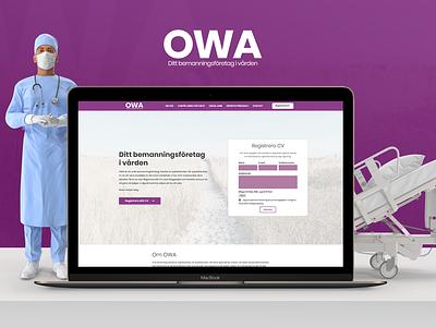 Webicient - OWA webdesign blue animation uiux ui-ux typography medical doctor purple wordpress webicient webdesign branding adobe website web ux ui photoshop illustration design