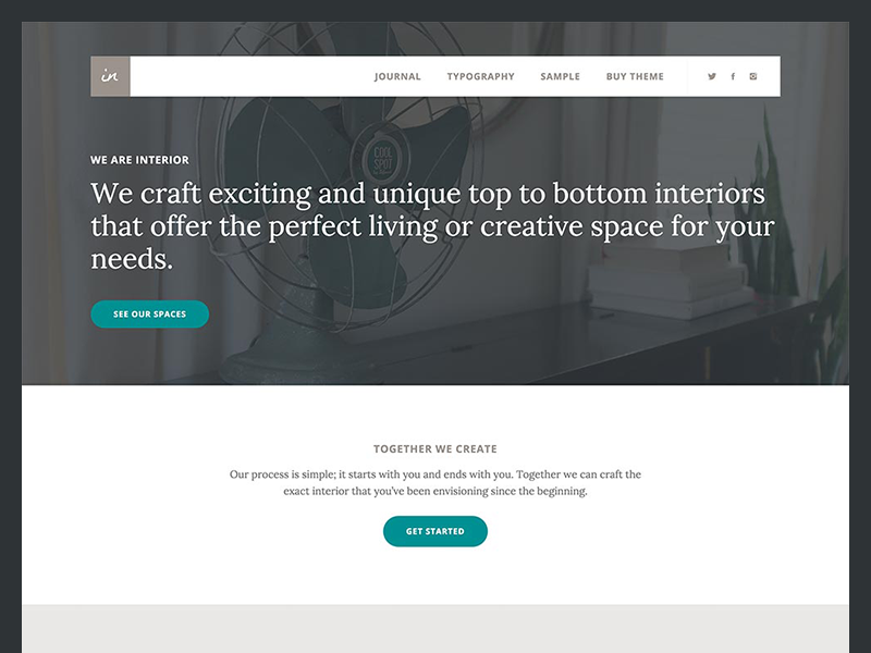Interior Pro Theme genesis framework serif typography color website