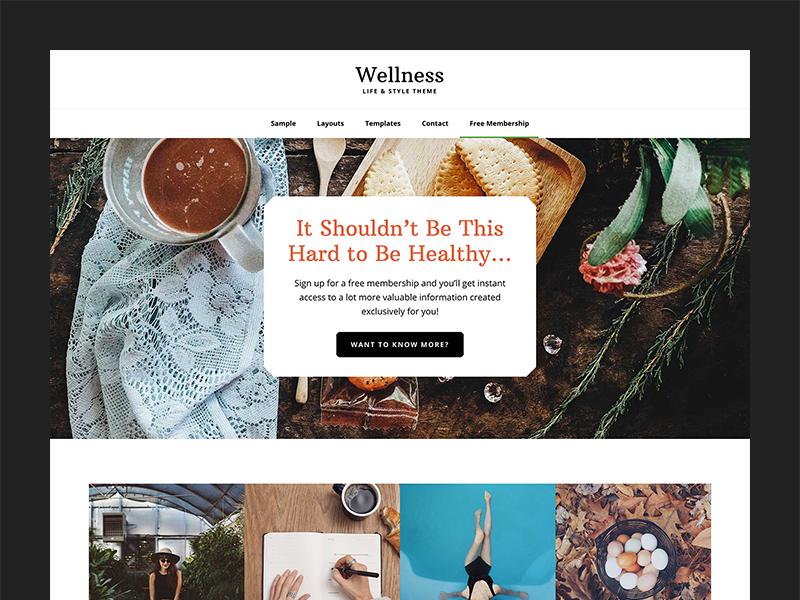 Wellness Pro Theme wordpress theme layout website genesis framework