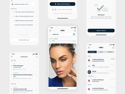 Swipe for a job - Mobile App job application ui design mobile app design