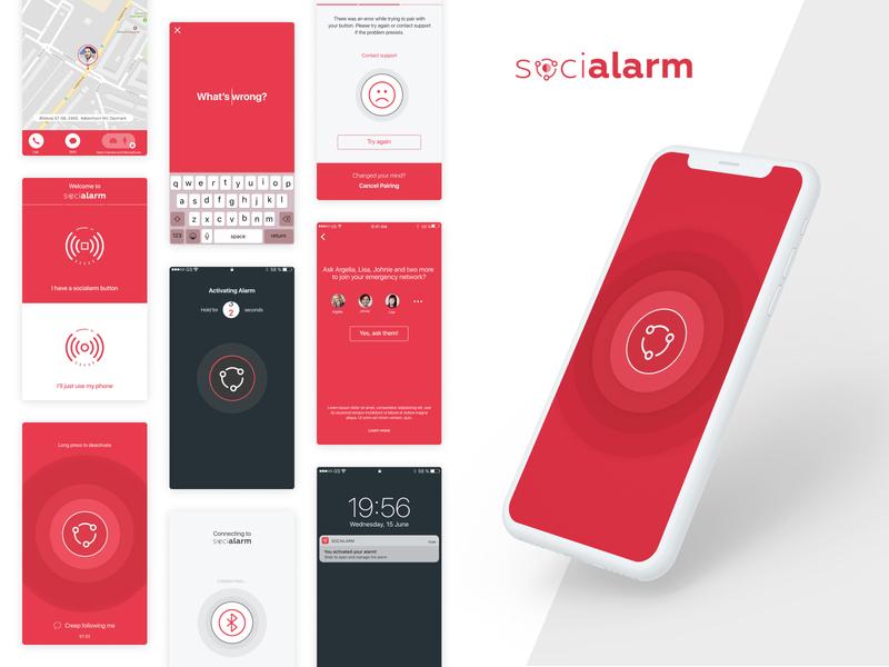 Socialarm - Mobile App & Landing page