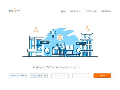 Like WiFi - Landing Page website design