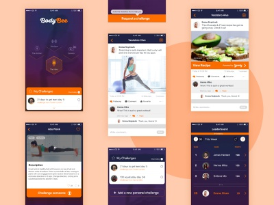 BodyBee - Mobile App fitness app uidesign mobile app design
