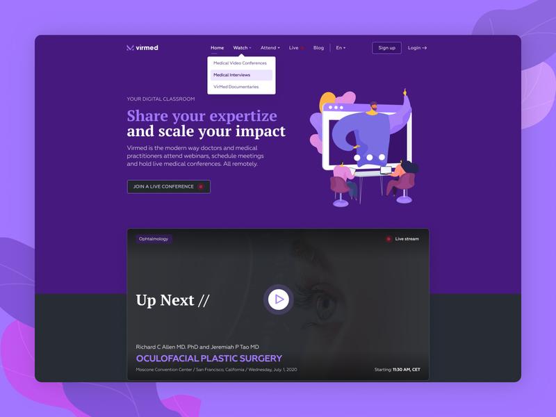 VirMed ui design medical web app