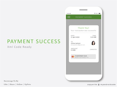 PaymentSuccess Dialog