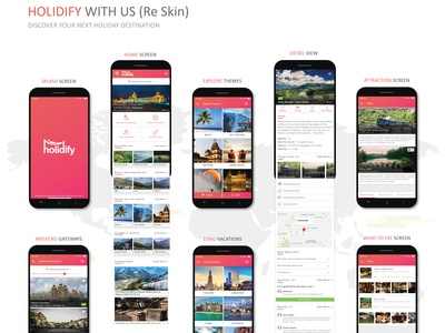 Holidify App Re - Skin Design