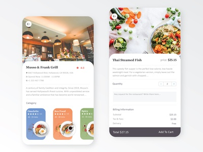 Restaurant UX Design for android