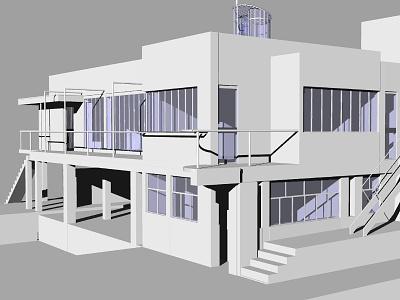 E 1027 Illustration Model Preview 4 eileen gray architectural illustration 3d visualization