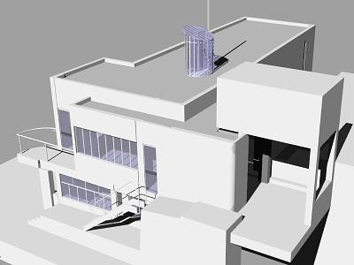 E 1027 Illustration Model Preview 5 eileen gray e-1027 house illustration e-1027 3d model architectural illustration