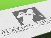 Playing Through Adaptive Golf Logo