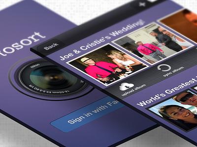 Photosort ios iphone concept work ui