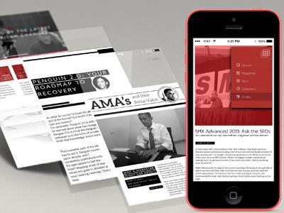 SEO Mobile Blog ui ux mobile blog page layout