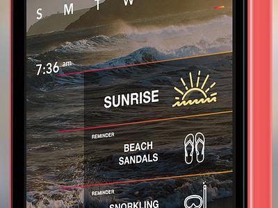 FauxCal 2 iphone ui passbook cal app