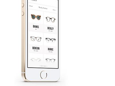 Affiliate Eye Glasses bebas bell mt mockup ui iphone app ios