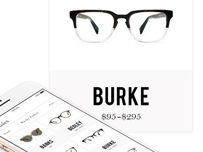 Affiliate Glasses mockup ui iphone app ios