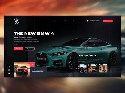 BMW Landing Page branding interfacedesign clean ui typography interface ux ui design