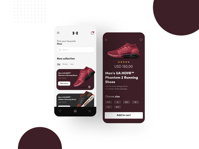 Shoe App clean ui app interfacedesign typography interface ux design
