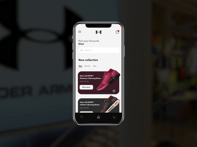 Shoe App animation interfacedesign ui ux after effect motion graphic motion design motion