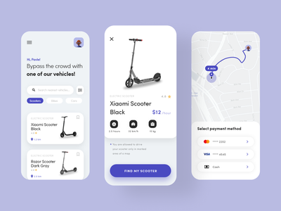 Future of transport ui  ux color app clean ui typography interfacedesign interface design ui ux