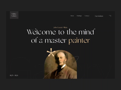 Gallery website concept web clean ui interfacedesign aftereffects animation motion design typography interface design ui ux