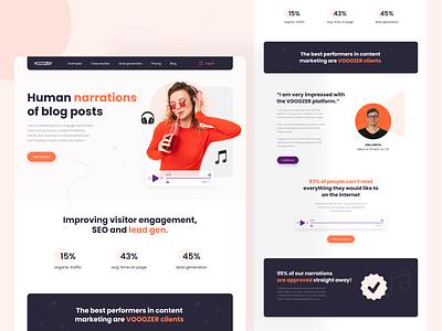 Vooozer website redesign saas landing page saas website agency website web interfacedesign interface design ui ux