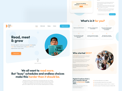Digital Creatives Club branding interfacedesign interface agency website typography agency clean ui design ui ux