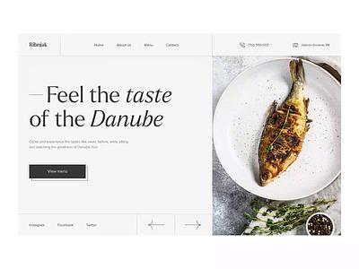 Fish restaurant website interfacedesign website motion graphics restaurant fish restaurant animation typography clean ui interface ux ui