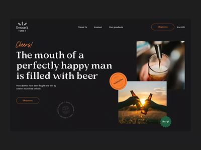 Brewery website clean ui brewery website brewery website branding typography interfacedesign interface ui ux