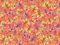 Tropical floral seamless pattern