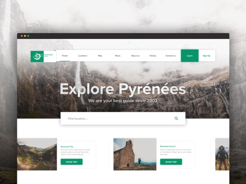 Explore Pyrenees, traveling explore web green webdesign mountains pyrenees