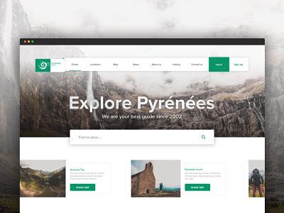 Explore Pyrenees, traveling explore web green webdesign mountains pyrenees