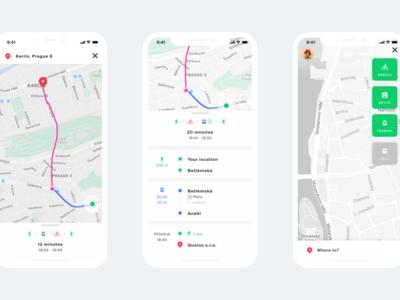 Fuzee multimodal transportation app