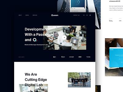 Qusion - Mobile & Web Apps Development LAB desiginspiration design agency design studio creative vysoke myto prague czech black web agency webdesig qusion