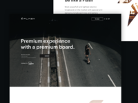 Flash longboards landing page