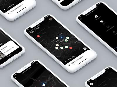 EGo app for e-cars ui czech car  auto navigation map skoda ios app black e-charger electro cars mobiliy car