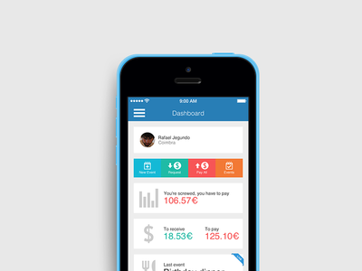 Payup ui design payments app events ios mobile