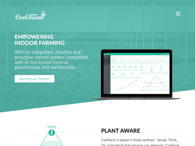 The new CoolFarm website site diagonal website homepage landing design ux ui