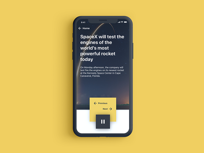 Smart News ios iphone x smart home news minimal app ui