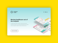 Dignus Care — Website webdesign landing page health app health ehealth website web ui