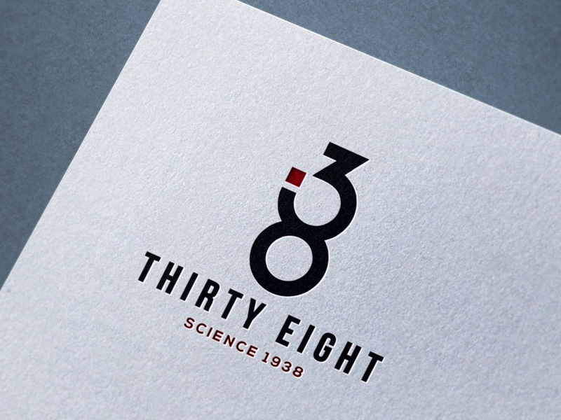 THIRTY EIGHT NUMBER LOGO