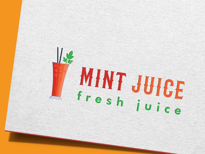 Mint juice Logo