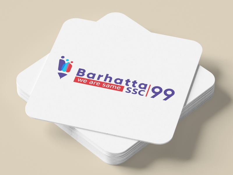 Barhatta SSC 99 Batch reunion Logo illustration letter design creative clean logo