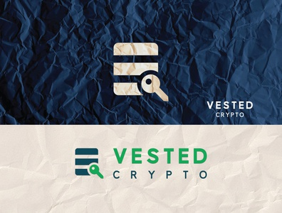 Vested Crypto - Financial Company Logo income growth growing graph financial economic direction digital device develop consulting chart budgeting broker banking account
