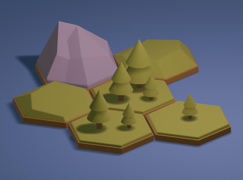 Cute Hexagonal Tabletop Tiles