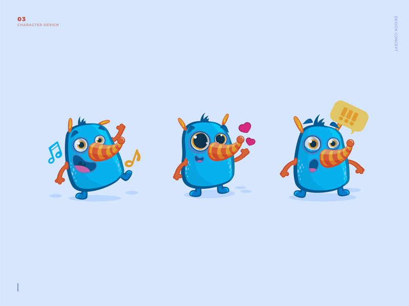 Opossum Character Design characterdesign character concept happy cute animals illustration vector